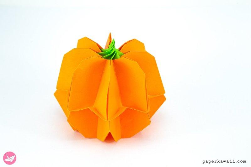 Origami Pumpkin Box Tutorial + Japan Candy Box Giveaway via @paper_kawaii