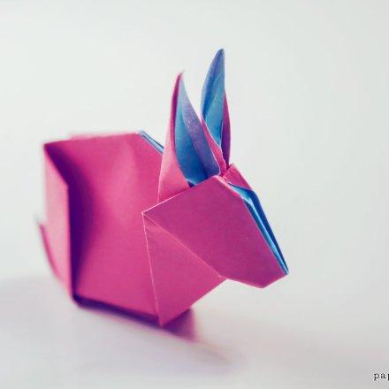 Origami Bunny Rabbit Tutorial & Diagram via @paper_kawaii