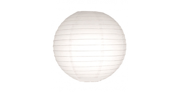30 Paper Lantern White Regular Wire