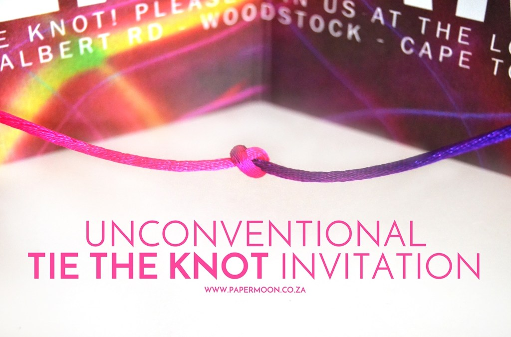 Unconventional Tie The Knot Invitation