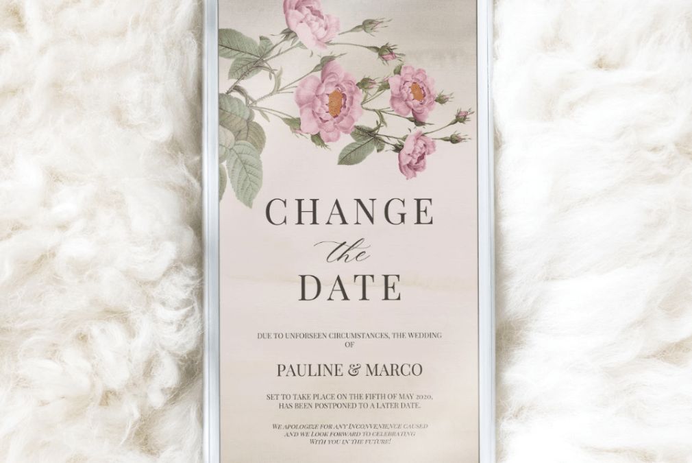 FREEBIE! BOTANICAL CHANGE THE DATE ANNOUNCEMENT FOR MOBILE SENDING