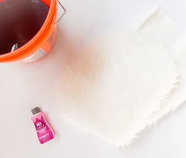 Ikea Hack How To Dye A  Faux Fur Rug From Ikea