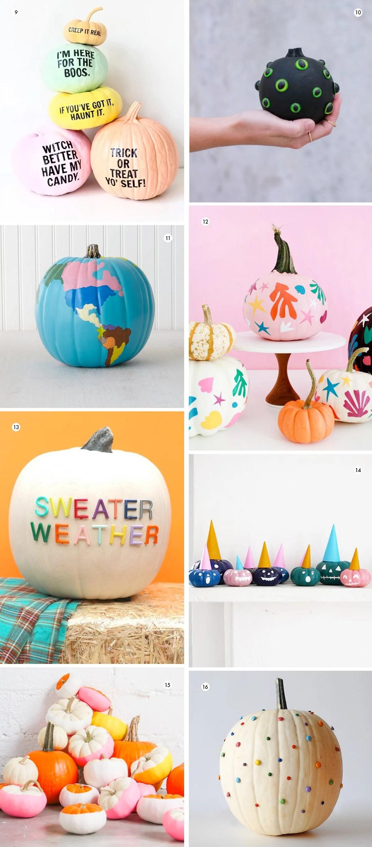 Halloween Queen 38 Modern No Carve Pumpkin Decorating Ideas