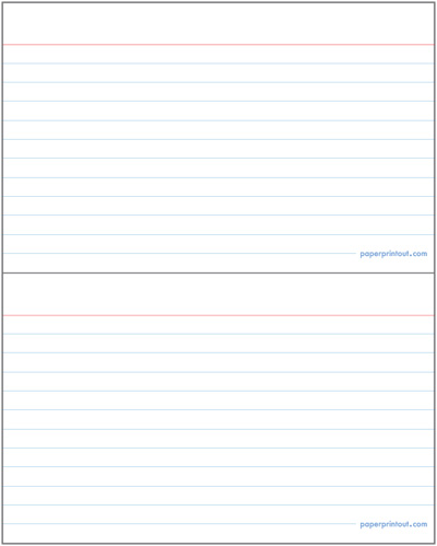 free printable note card maker | Infocard.co