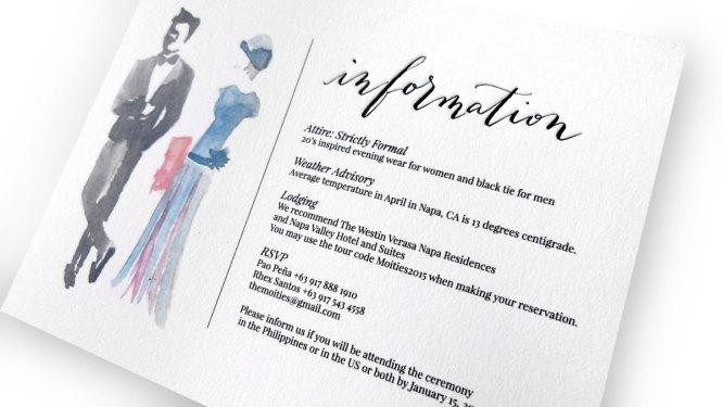 Wedding invitation formal attire paperinvite the moities wedding invitation semi formal attire stopboris Image collections