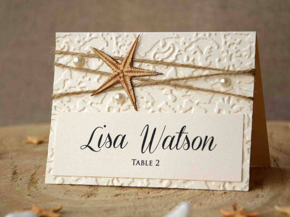 Beach Wedding Place Cards