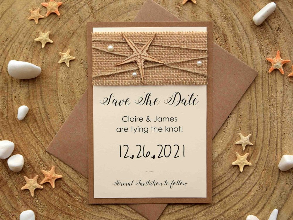 Custom Beach Save The Dates