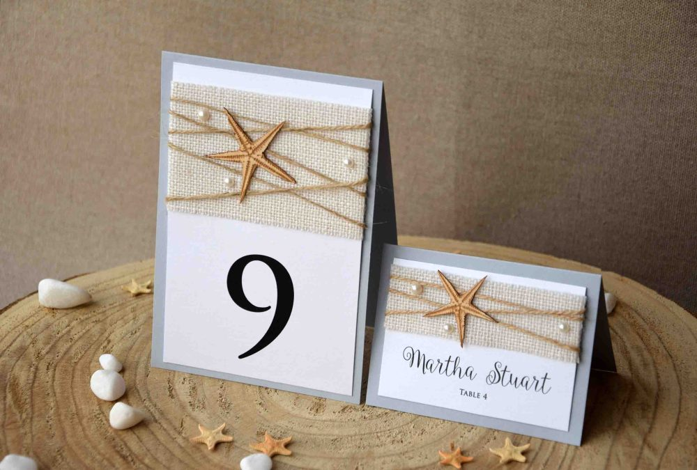 Beach Table Numbers