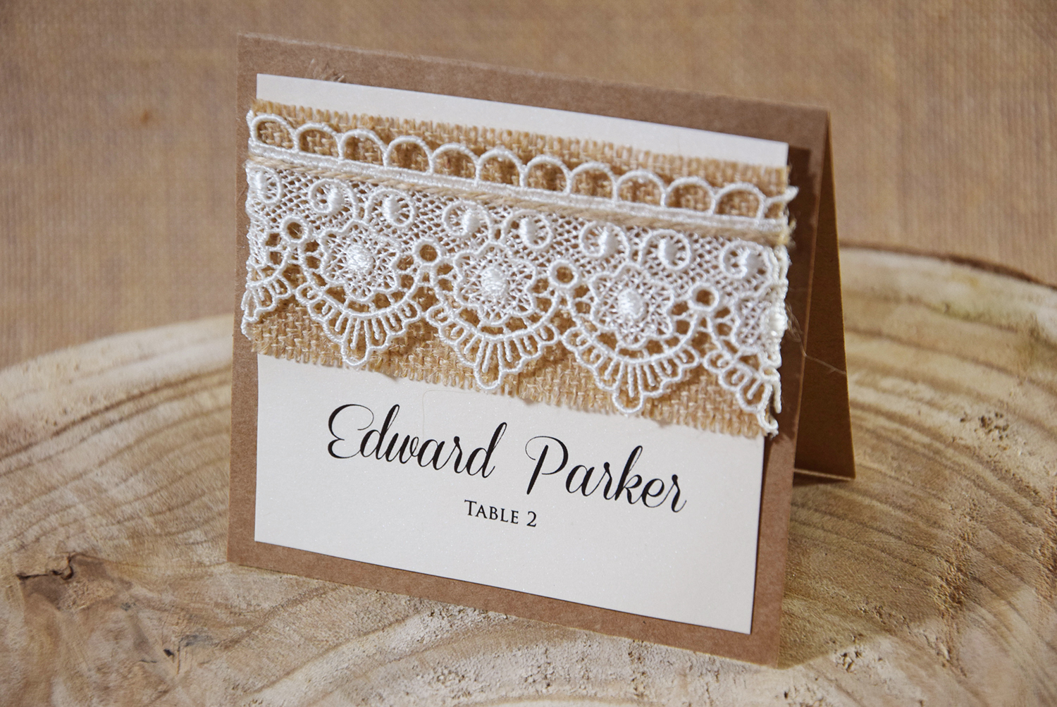 Rustic Chic Place Name Cards