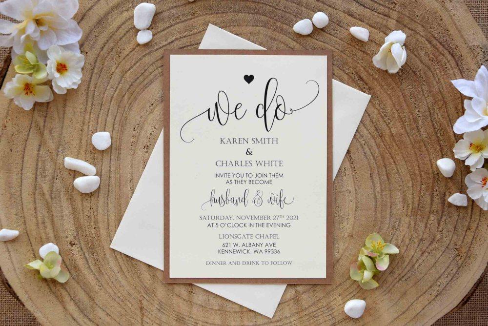 Lace Wedding Invitations Kit