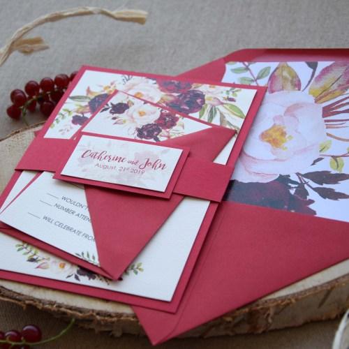 Autumn Shabby Chic Wedding Invitations