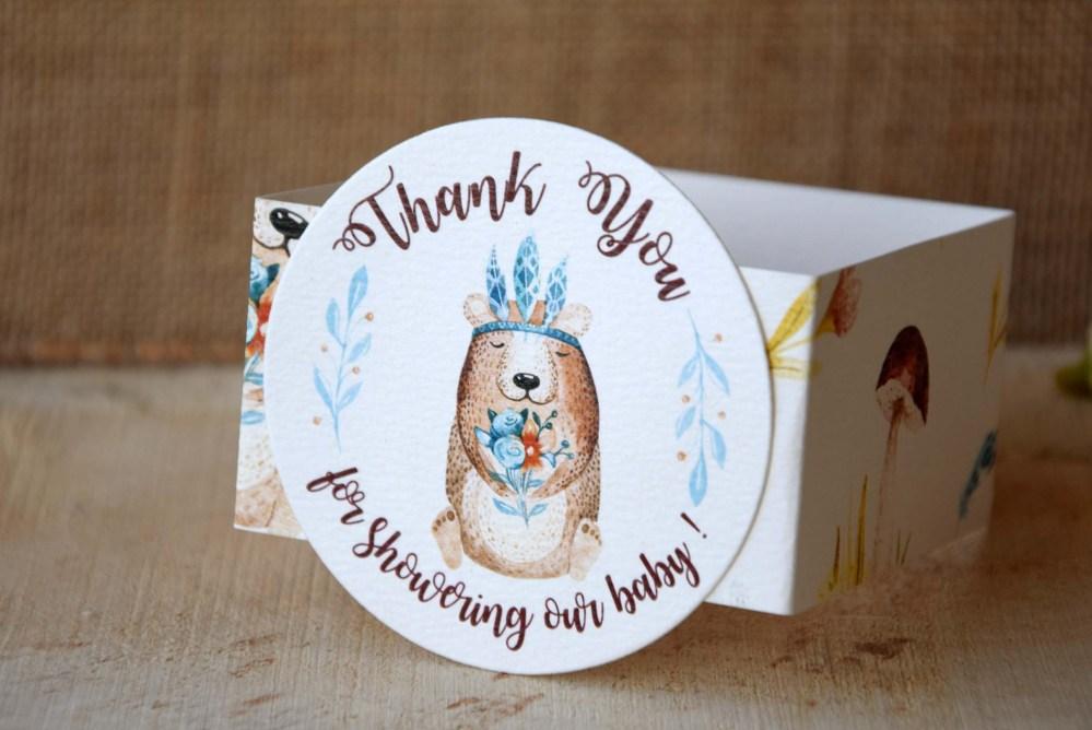 Custom Baby Boy Baby Shower Favor Boxes