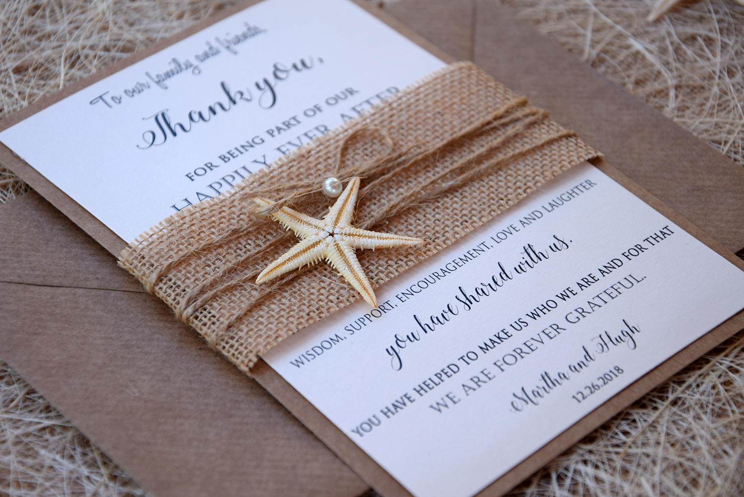 Unique Starfish thank You Notes