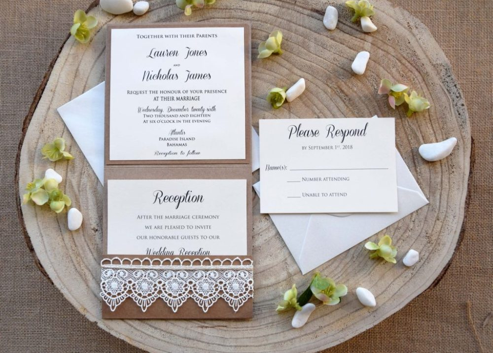 Rustic Lace Invitations