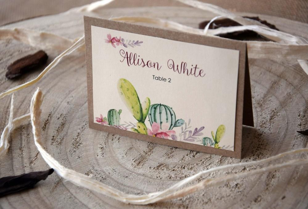Cactus Wedding Place Cards