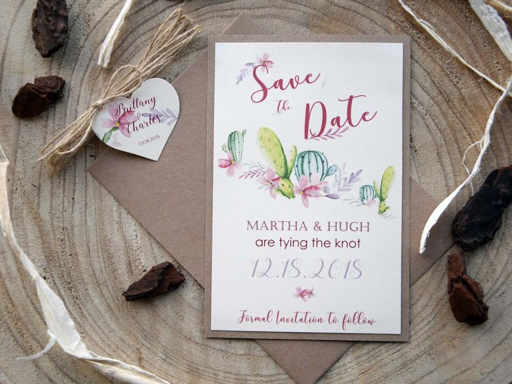 Cactus Wedding Save The Dates