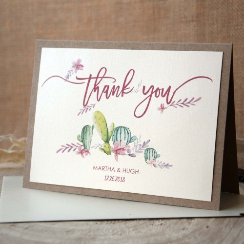 Cactus Thank You Cards