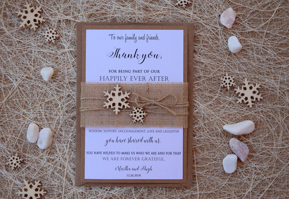 Winter Rustic Thank You Cards
