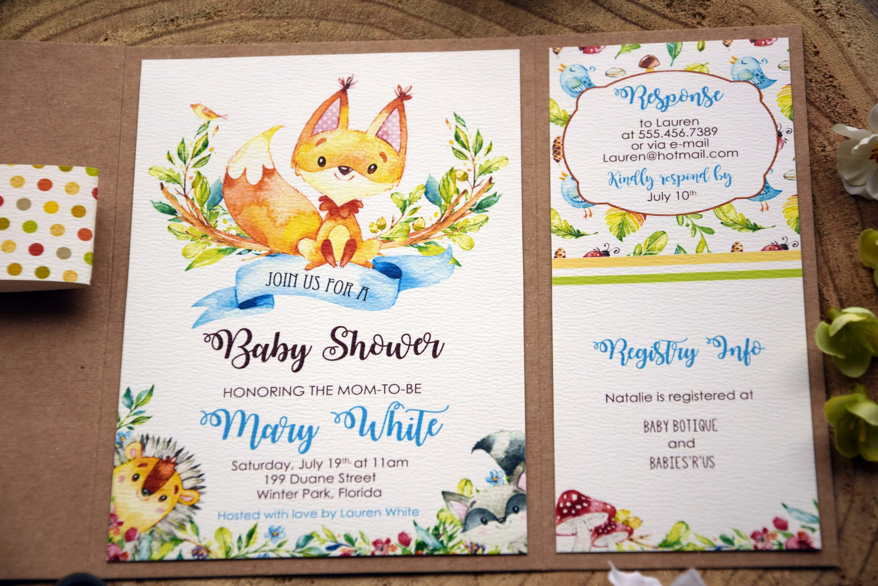 ... Jungle Theme Baby Shower Invitations ...
