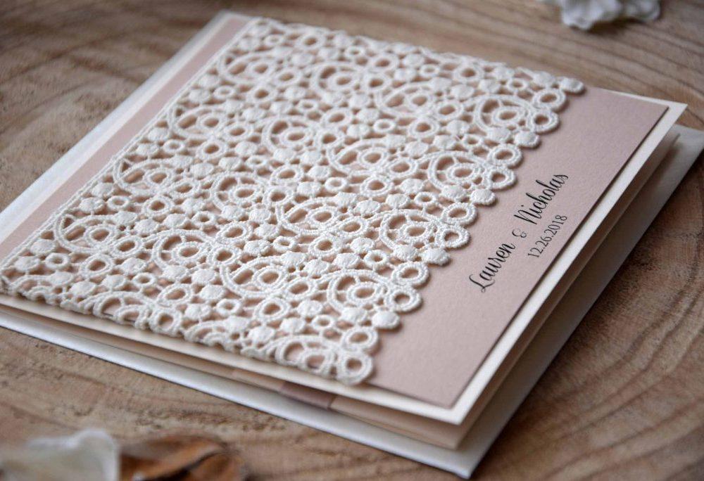 Ivory Lace Wedding Invitations