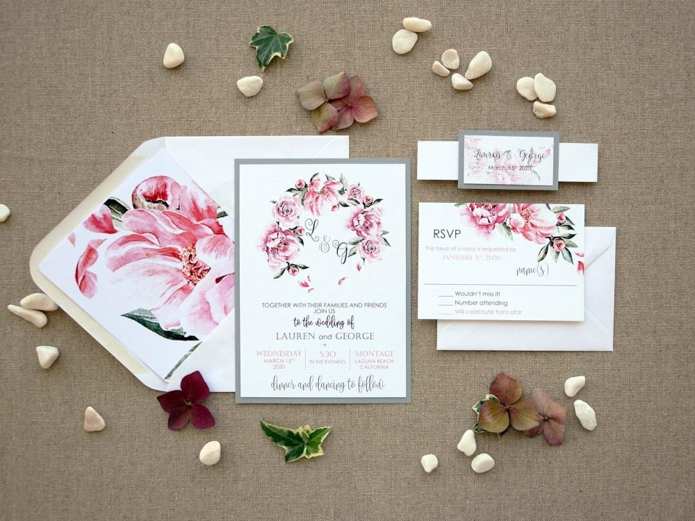 Wreath Wedding Invitations
