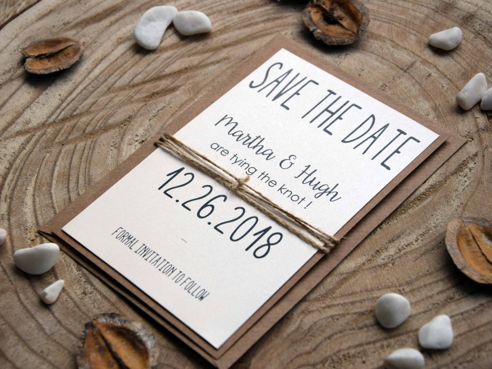 Tying The Knot Save the Date Cards