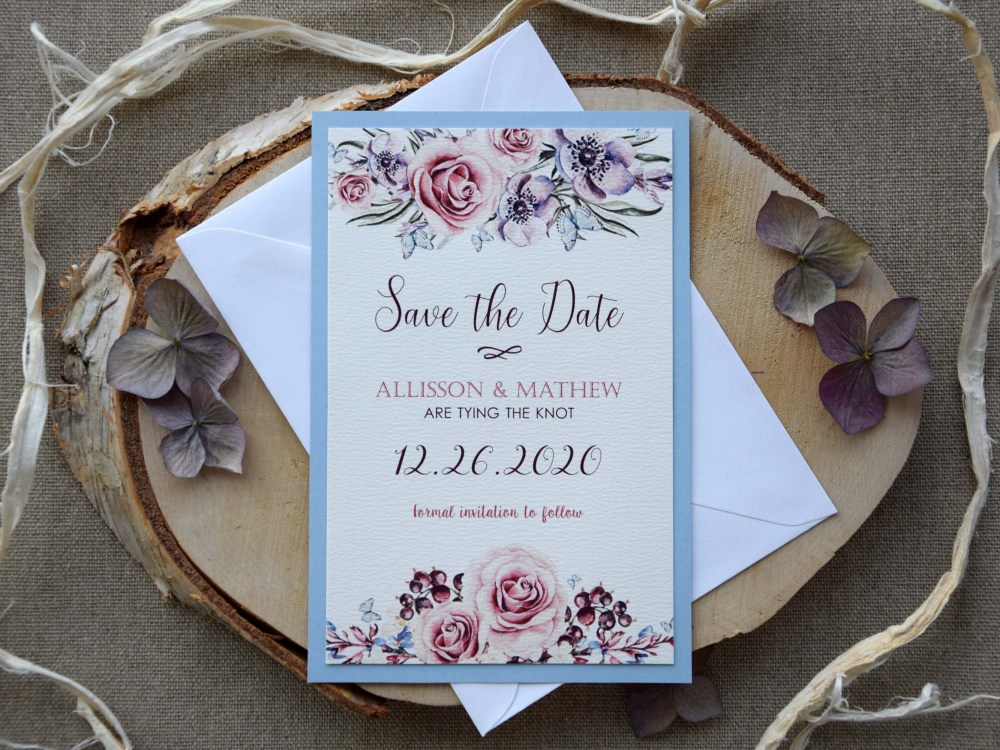Watercolor Wedding Tie The Knot