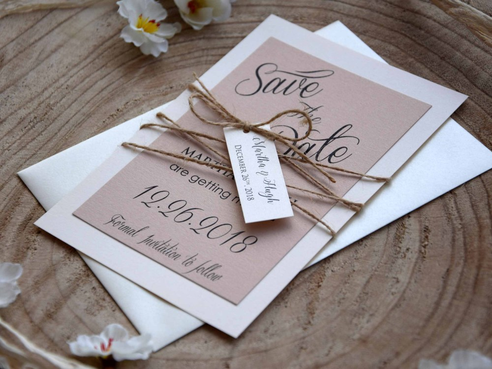 Elegant Wedding Save The Dates