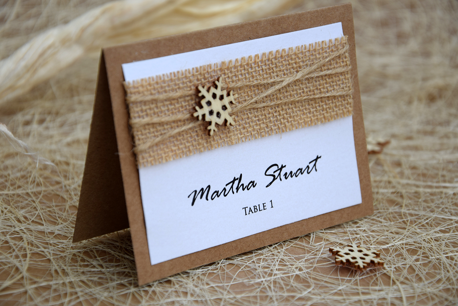 Rustic Winter Place Cards