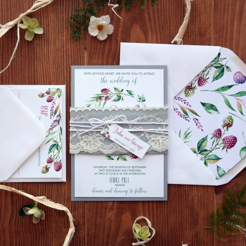Elegant Lace Wedding Invitations