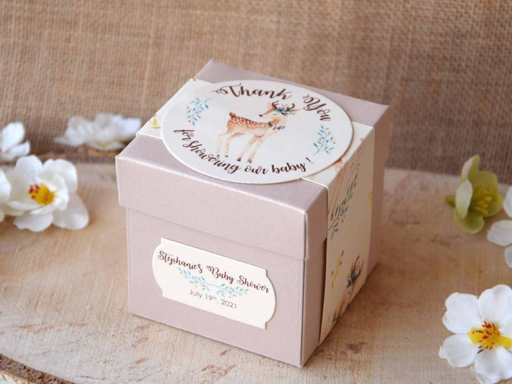 Custom Baby Girl Baby Shower Favor Boxes