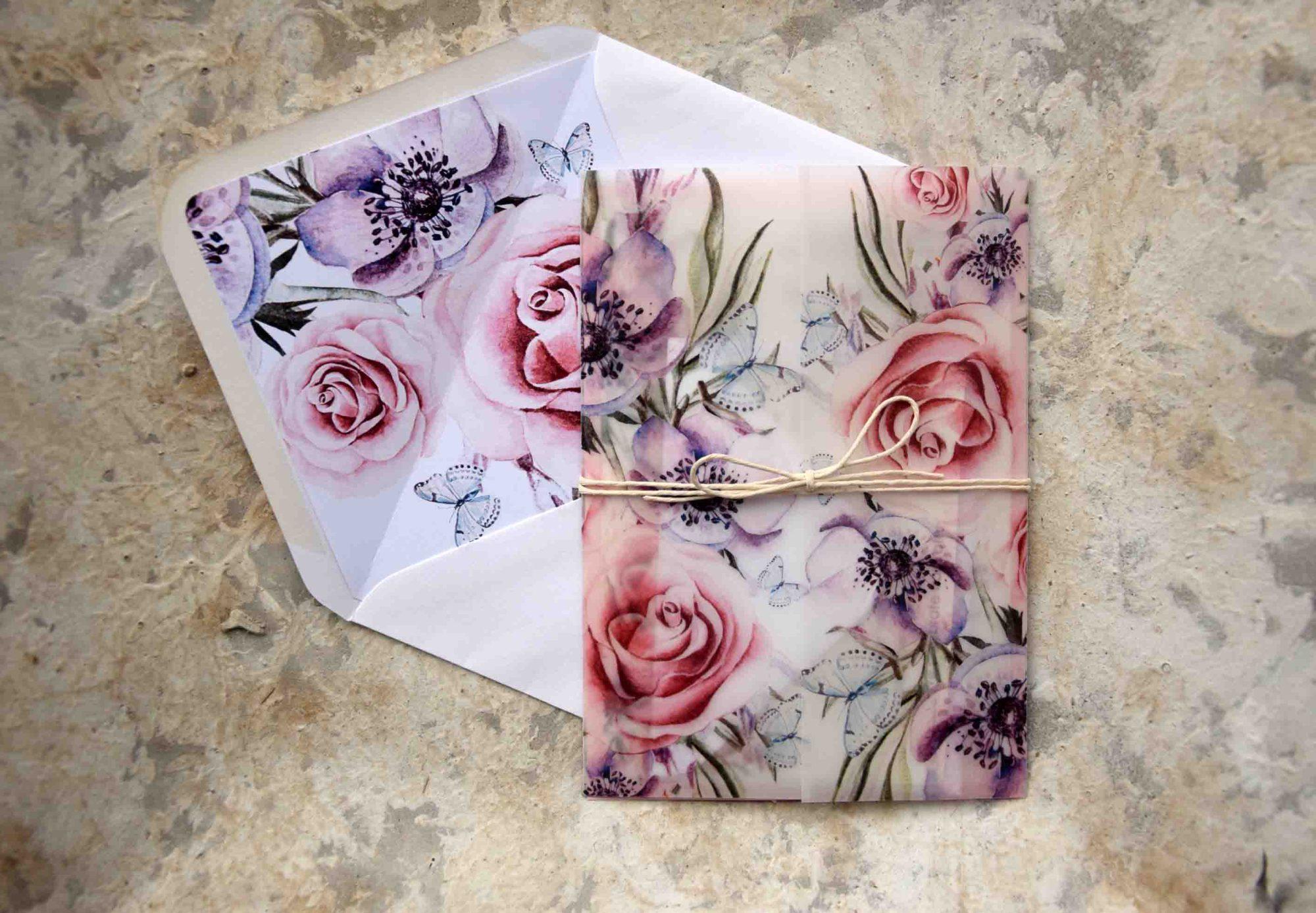 Floral Romantic Wedding Invitations