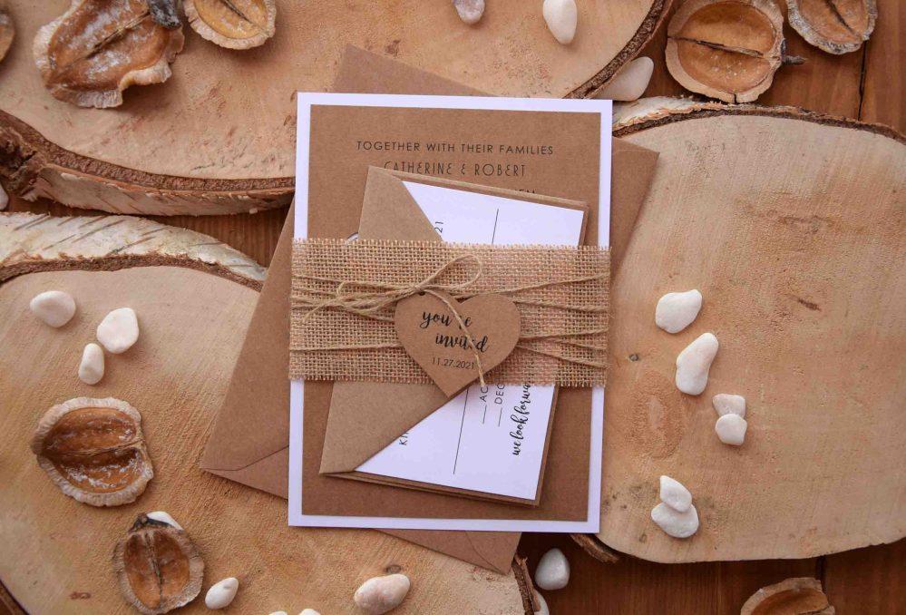 Mr and Mrs Laser Cut Wedding Invitations