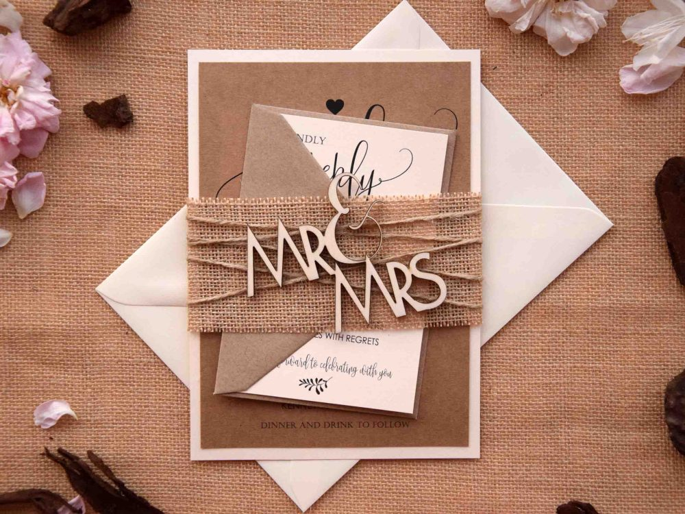 Mr and Mrs Wood Wedding Invitations