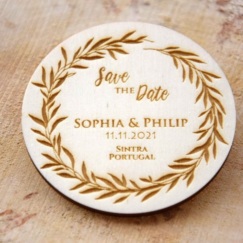 Rustic Save the Date Fridge Magnets