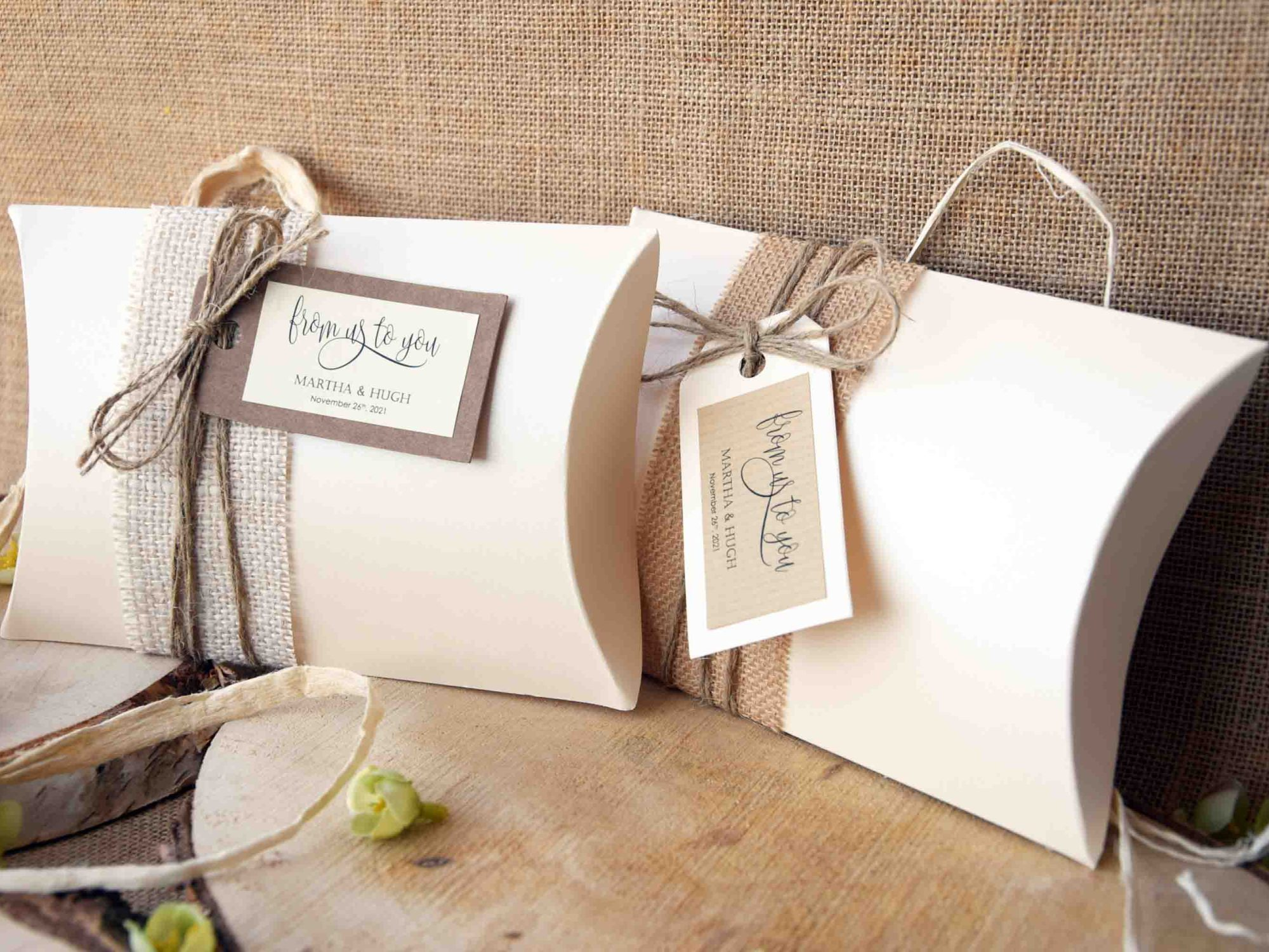 Rectangular or Square Ivory Pillow Boxes #pillowboxes #favorpillowboxes #largepillowboxes #rusticfavorboxes #favorboxes