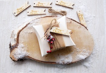 Pack of 5 Wooden Christmas Tags