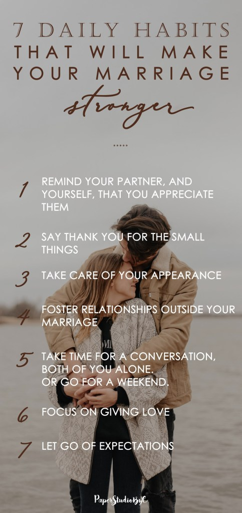 7 Daily Habits that will make your marriage stronger