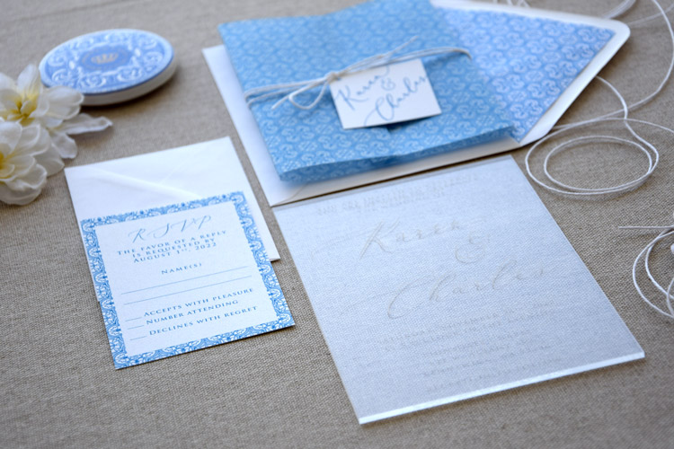 Acrylic Tile Wedding Invitations