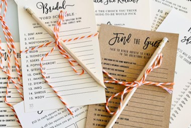 11 Free Bridal Shower Games to entertain your guests