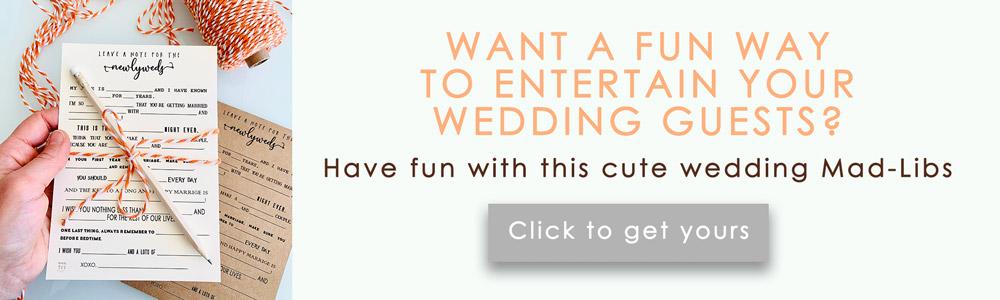 Wedding Mad-Libs