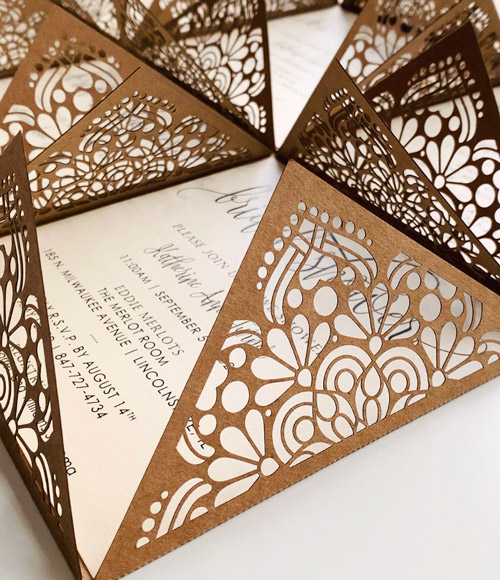 Laser Cutting Machine - LAser Cut Invitations - PaperStudioByC