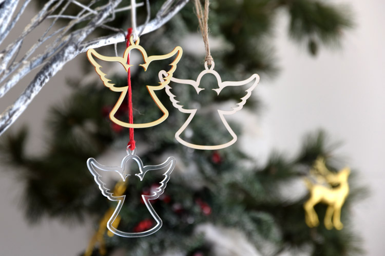 Angel Silhouette Christmas Ornament