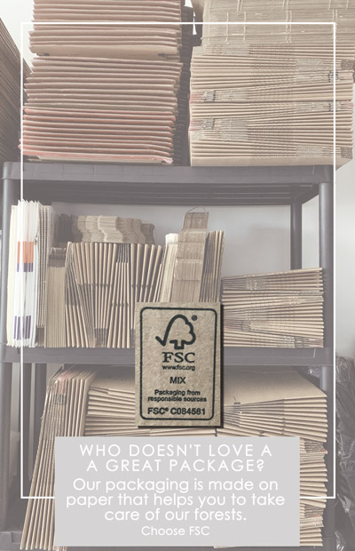 Paper, Wood and Cork certified by FSC