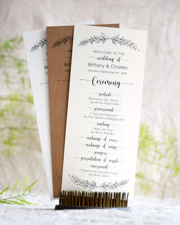 Rustic Entourage Card