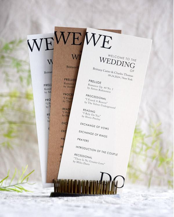 We Do Wedding Programs