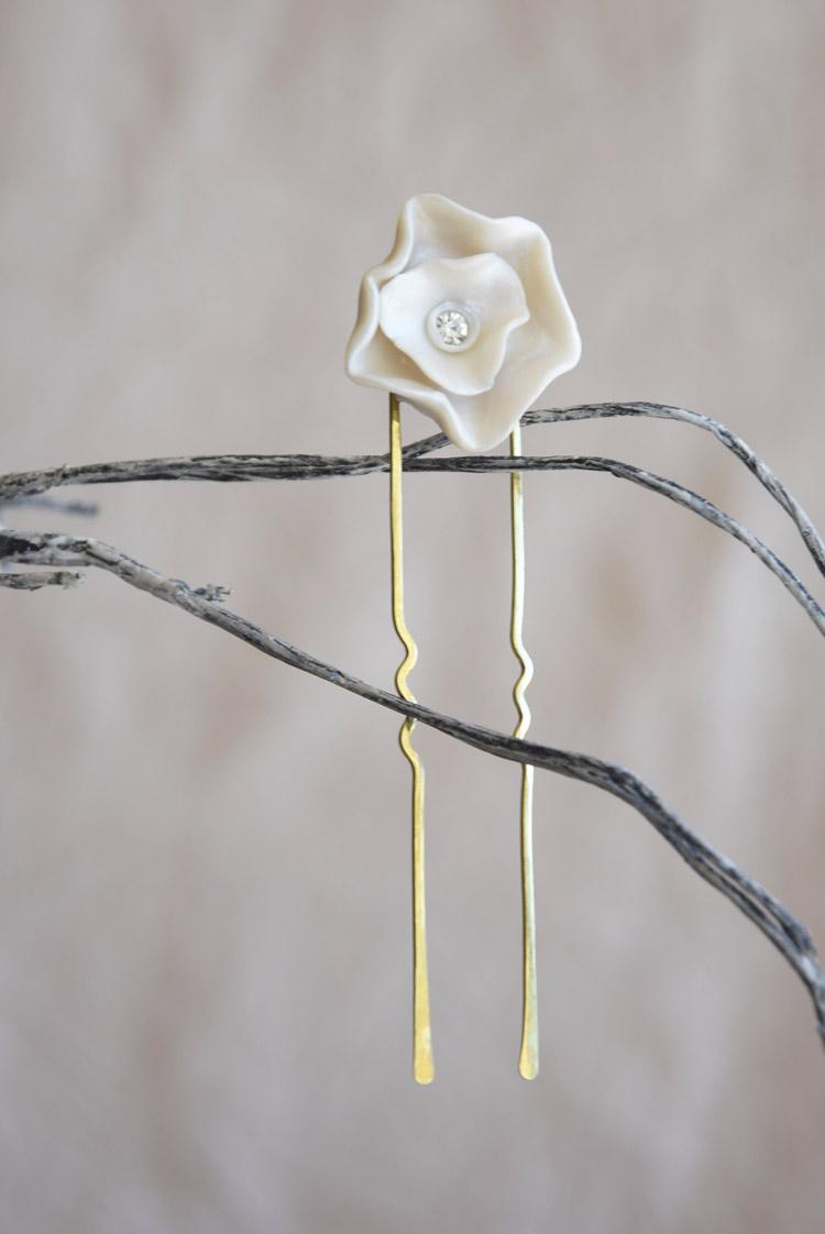 Pearl Flower Bridal Headpiece