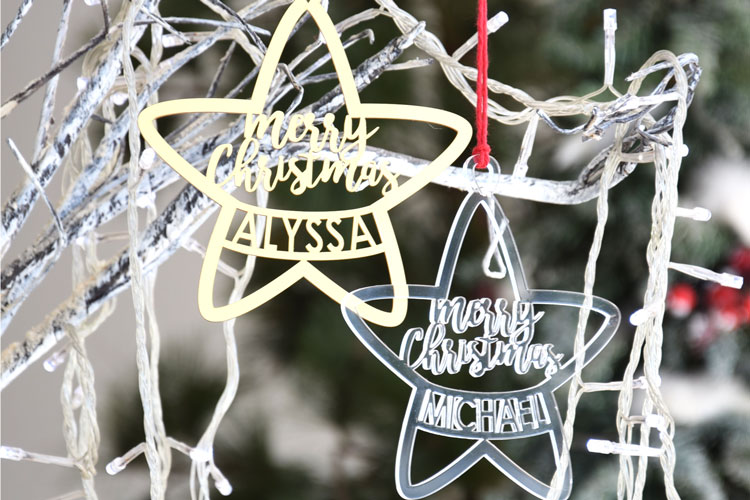 Personalized Acrylic Merry Christmas Star