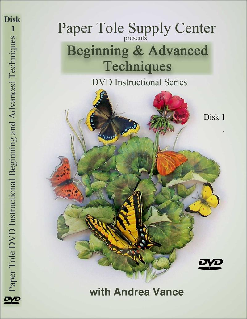 Learn Beginning And Advanced Paper Tole Techniques DVD 1