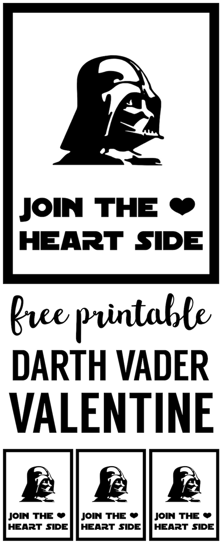 Star Wars Darth Vader Valentine Printable. This free Star Ward Printable Valentine is perfect DIY Star wars Valentine.